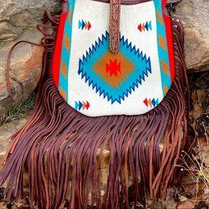 Saddle Blanket Fringe Purse